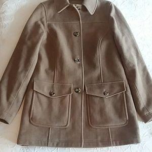 LL Bean Classic Camel Pea coat